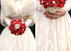 beaubuttons button bouquet red