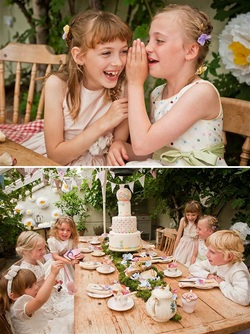 Beaubuttons Kat Forsyth Photography Flower girl pastel vintage wedding