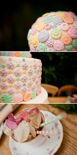 button bouquet wedding cake Kat Forsyth Photography
